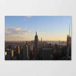 NYC skyline at Dusk Canvas Print