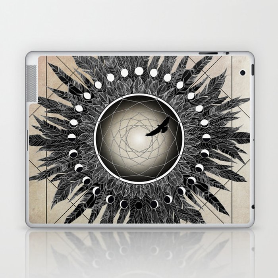 Crow Twilight Dreamcatcher Laptop & iPad Skin