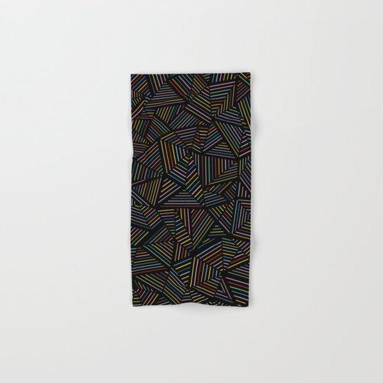 Ab Linear Rainbow Black Hand & Bath Towel