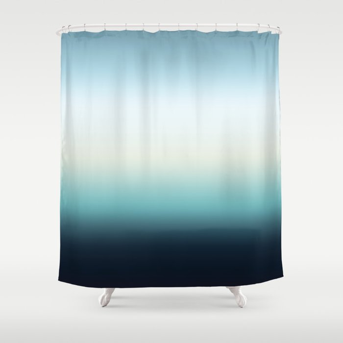 ocean sky color gradient - blue , white , black Shower Curtain by ...