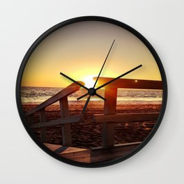 "Redondo Beach ""Life Guard Tower 1"" Wall Clock"
