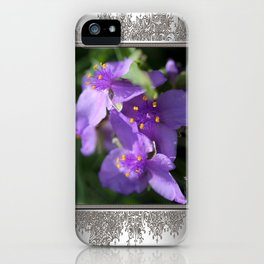 Tradescantia named Blue Stone iPhone Case