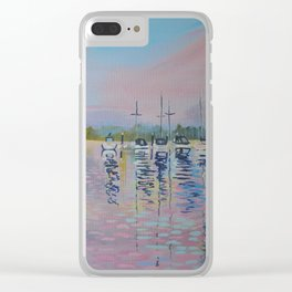 Pink sunrise over Windermere Clear iPhone Case