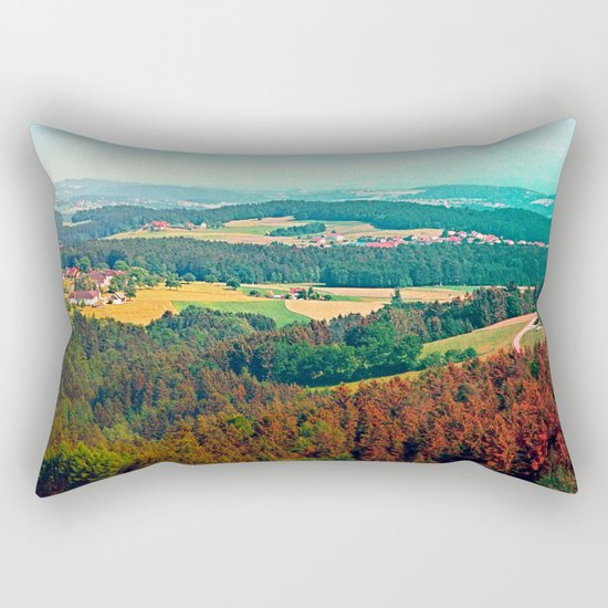Spring, hot sun, and lots of scenery Rectangular Pillow