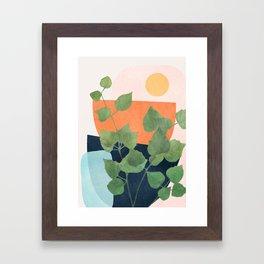 Nature Geometry IX Framed Art Print