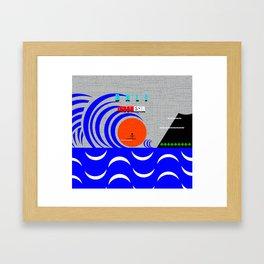 Bali Indonesia surfing design A Framed Art Print