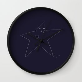 Lonely Star - Navy Wall Clock