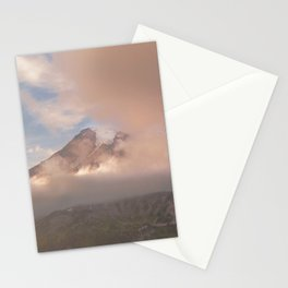 Rainier through the clouds Stationery Cards