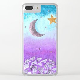 Mister moon Clear iPhone Case