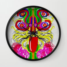 Maya lion Wall Clock