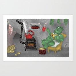 cave ogre Art Print