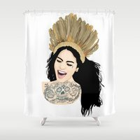 india Shower Curtains featuring India by ElodieD