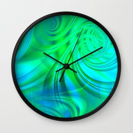 Infinite Loop (green-blue) Wall Clock