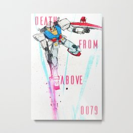 Death From Above 0079 (Gundam) Metal Print