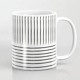 Abstract line art black and grey contemporary art Coffee Mug