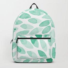 Watercolor brush strokes - aqua Backpack