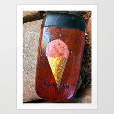 Phone upgrade ice cream Art Print