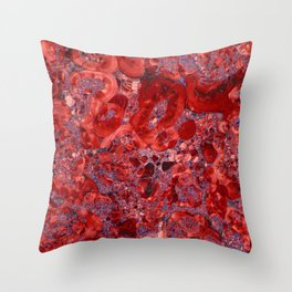 Marble Ruby Blood Red Agate Throw Pillow