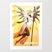 heroes never die! Art Print