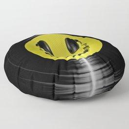 Vinyl headphone smiley Floor Pillow