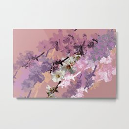 Passionate Pink Blossoms Metal Print