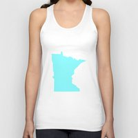 minnesota Tank Tops featuring Blue Minnesota by Megan Pihlaja