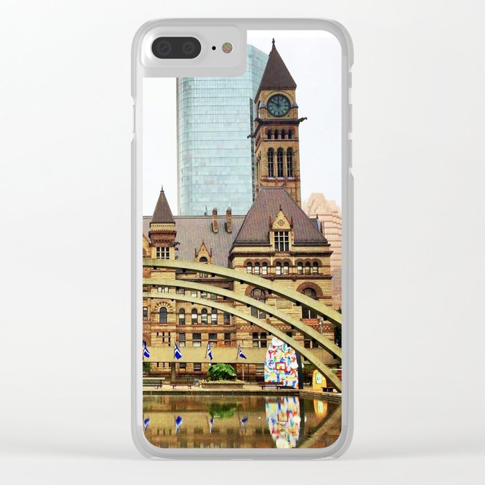 Nathan Phillips Square, Toronto, Ontario Clear iPhone Case