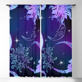 Sun, Moon & Stars, Purple Sky Blackout Curtain