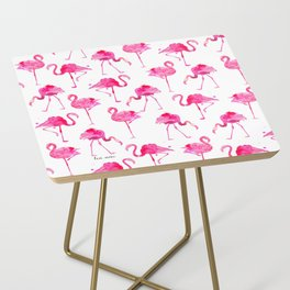 floridian flamingos - white Side Table