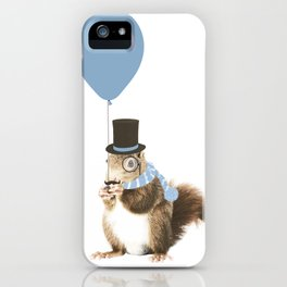party squirrel iPhone Case