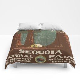 Vintage poster - Sequoia National ParkX Comforters