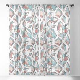 Diamonds are forever Pattern 2 Sheer Curtain