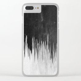 Black and White Smear Clear iPhone Case