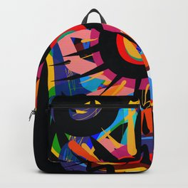 Black Sun is shining Abstract Art Street Graffiti Backpack
