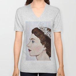 Elizabeth II Unisex V-Neck