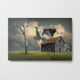 Wash on the Line Metal Print