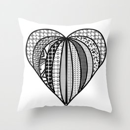 heart made from pieces Throw Pillow