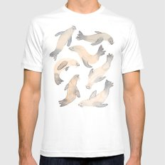 My Lips Are Seals White Mens Fitted Tee MEDIUM