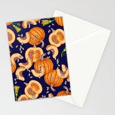Pumpkin night life Pattern Stationery Cards