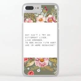 Why can't I try on different lives - S. Plath Collection Clear iPhone Case