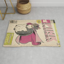 Little Thumbelina Girl: Pink Lightning Rug