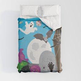 Halloween Monster Scene Comforters