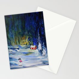 Out alone Stationery Cards