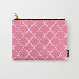 Quatrefoil - Watermelon pink Carry-All Pouch
