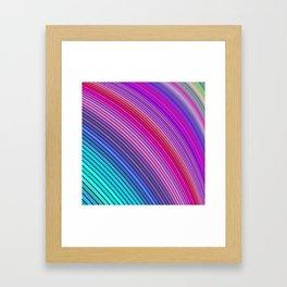 Cold rainbow stripes Framed Art Print