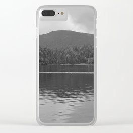 Sterling Pond - Black and White Photography Clear iPhone Case