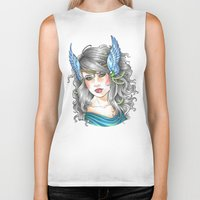 goddess Biker Tanks featuring Goddess by Little Lost Forest