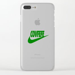 Covfefe [GREEN] Clear iPhone Case