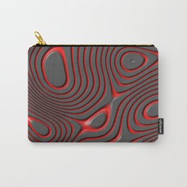 Organic Abstract 01 RED Carry-All Pouch