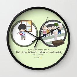 Between Adzan and Salat Wall Clock